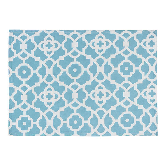 Table Trends G/Work Placemat - Aqua - 13 x 18in