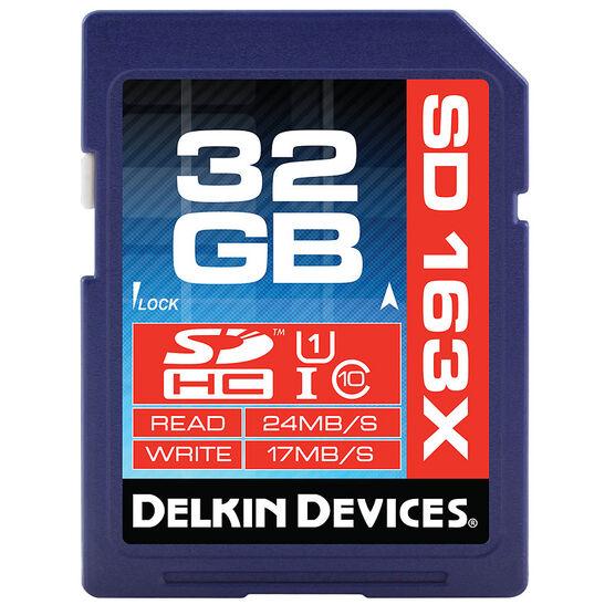 Delkin 32GB SDHC 163X UHS-I Memory Card - DDSDPRO3-32GB
