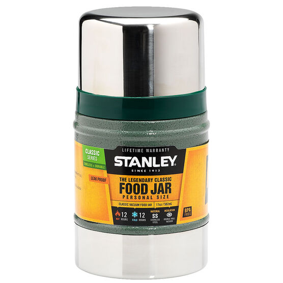 Stanley Vacuum Food Jar - Hammertone Green - 17oz