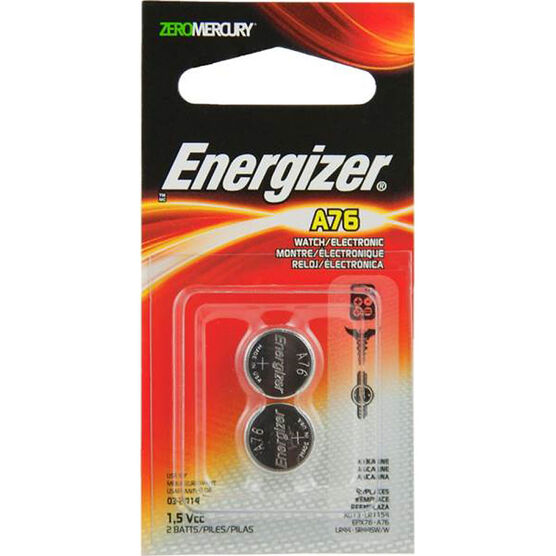 Energizer Watch Battery A76 1.5V - 2 Pack