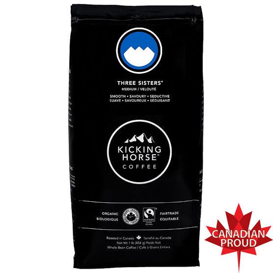 Kicking Horse Coffee Three Sisters - Medium Roast - Whole Bean - 454g