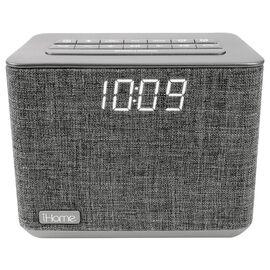 iHome Dual Alarm Bluetooth Clock Radio - Grey - iBT232