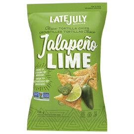 Late July Tortilla Chips - Jalapeno Lime - 156g