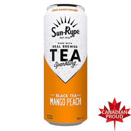 Sun-Rype Sparkling Black Tea - Mango Peach - 355ml