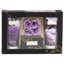 Violet Rose Bath Gift Set - 7 piece
