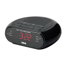 RCA AM/FM Dual Clock Radio - Black - RC205