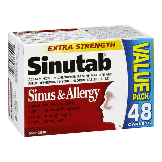 Sinutab Sinus & Allergy Extra Strength - 48's