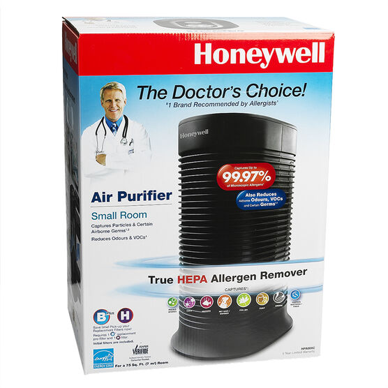Honeywell True HEPA Compact Tower Air Purifier with Allergen Remover - HPA-060