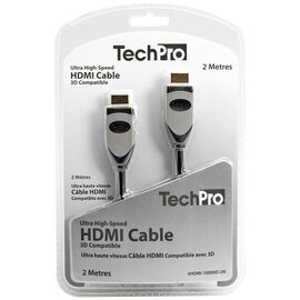 TechPro Ultra High-Speed HDMI Cable - 3D Compatible - 2 m