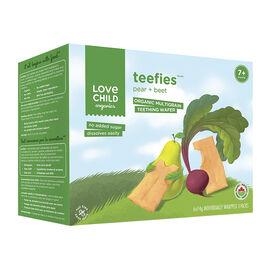 Love Child Teefies Organic Multigrain Teething Wafers - Pear + Beet - 84g