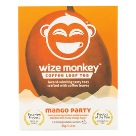 Wize Monkey Coffee Leaf Tea - Mango Party - 15 Pouches