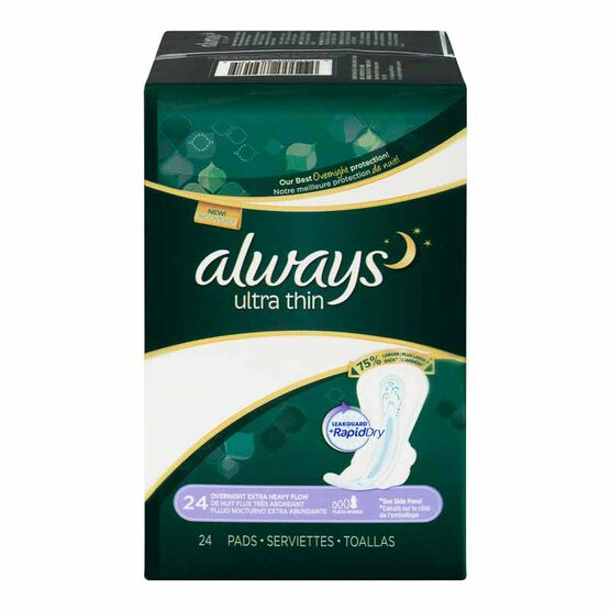 Always Ultra Thin Pads Overnight - Extra Heavy Flow - 24's