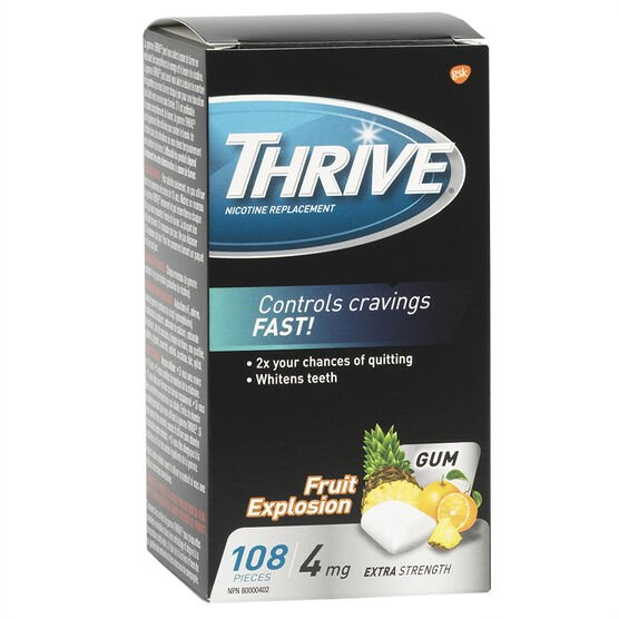 Thrive 4mg Stop Smoking Aid Gum - Fruit Xplosion - 108's