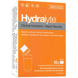 Hydralyte Electrolyte Maintenance Powder - Orange - 10 x 4.9g