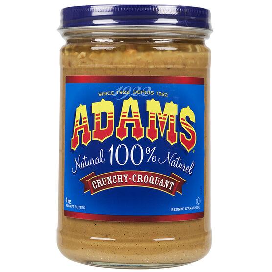 Adams Peanut Butter - Crunchy - 1kg