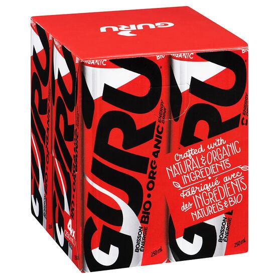 Guru Organic Energy Drink - Original - 4 x 250ml