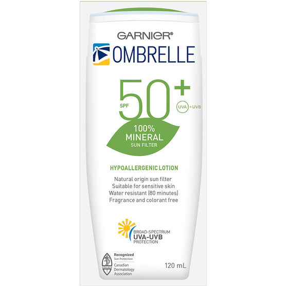 Ombrelle 100% Mineral Sunscreen Lotion - SPF50+ - 120ml