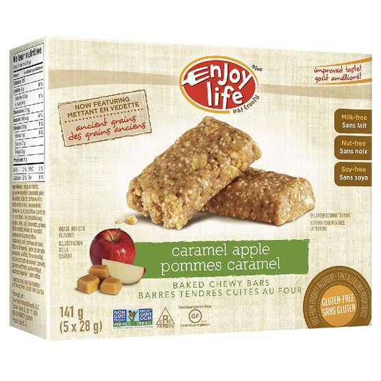 Enjoy Life Gluten Free Baked Chewy Bars - Caramel Apple - 141g