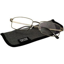 Foster Grant T10 Men's Reading Glasses - Gunmetal - 3.25