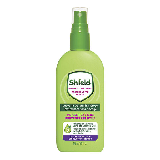 Shield Repels Head Lice Leave in Detangling Spray - 147ml