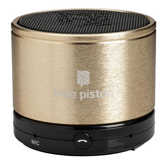Logiix Bluepiston Bluetooth Speaker - Gold - LGX10859