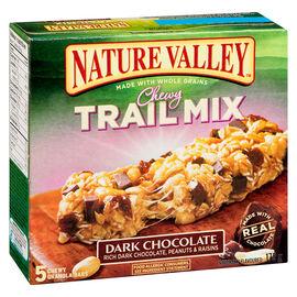 Nature Valley Trail Mix Bar - Dark Chocolate - 5 Pack