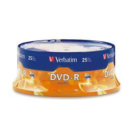 Verbatim DVD-R 4.7GB 16X Spindle - 25 pack