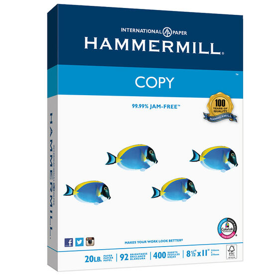 Hammermill Copy Paper Case - 400 Sheets x 6 Pack - HAM-150200C