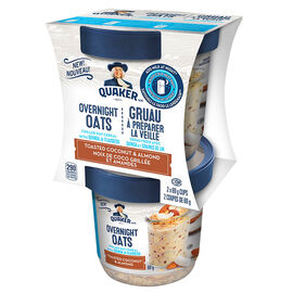 Quaker Overnight Oats - Toasted Coconut & Almond - 2x69g