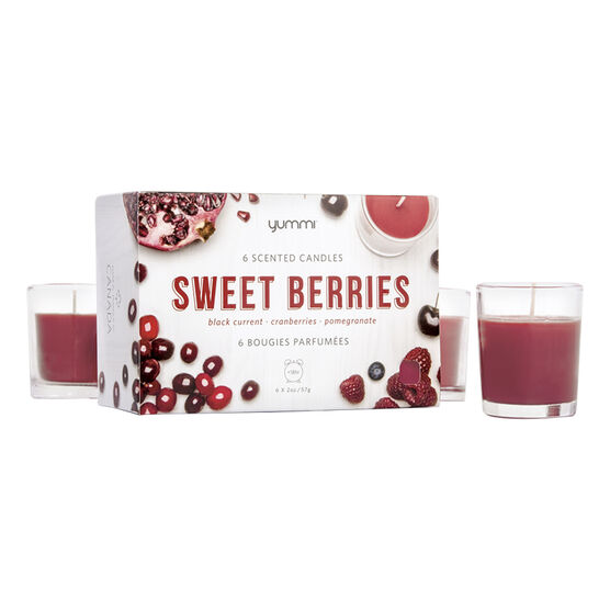Yummi Votive Candle - Sweet Berry - 6 pack