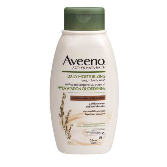 Aveeno Active Naturals Yogurt Body Wash - Vanilla & Oats - 354ml