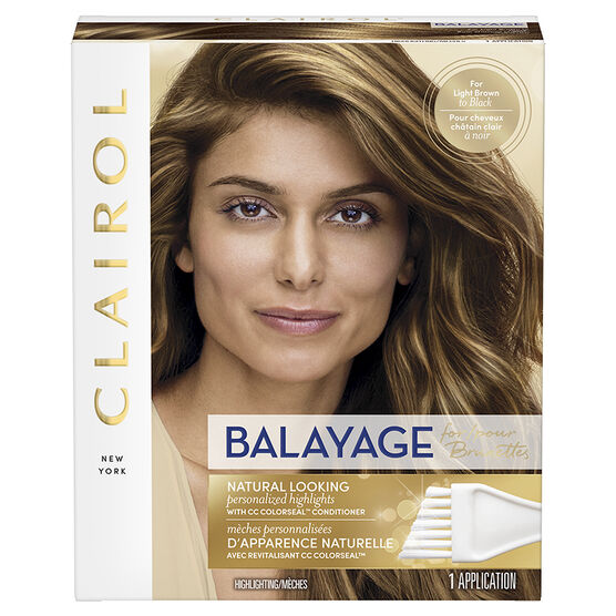 Clairol Balayage Highlighting for Brunettes - Light Brown to Black