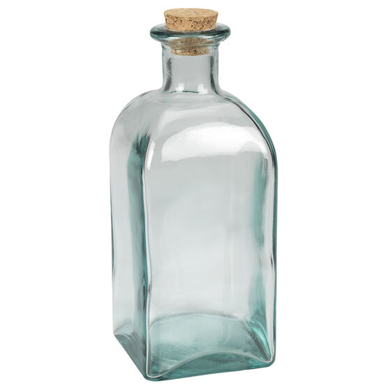 London Drugs Green Glass Bottle - Square - 1L