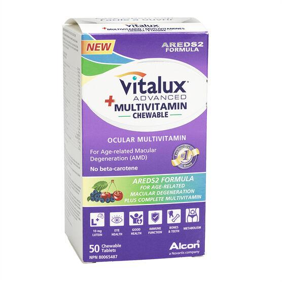 Vitalux Advanced + Multivitaimin Chewable - Ocular - 50's
