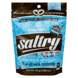 Zazubean Saltry Organic Dark Chocolate - Sea Salt & Almonds - 110g