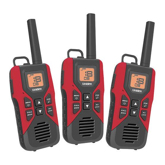 Uniden GMRS Radio 3 Pack Kit - Red - GMR30553VP