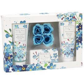 Emily Rose Bath Gift Set - Violet Rose & Sandalwood - Blue - 7 piece