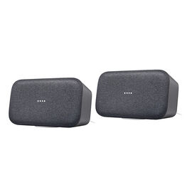 Google Home MAX Voice Assistant Speaker - 2 pack - Charcoal/Charcoal - PKG #13797