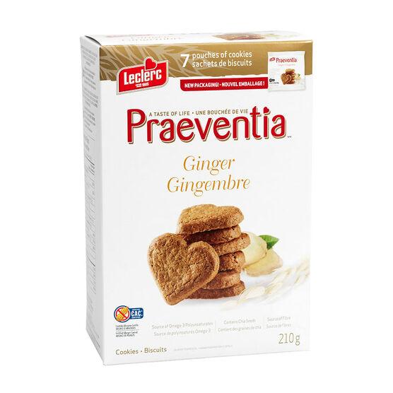 Leclerc Praeventia Cookies - Ginger - 210g