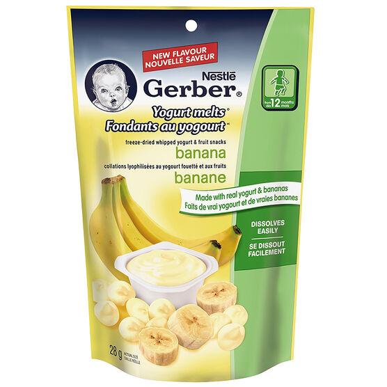 Nestle Gerber Yogurt Melts - Banana - 28g