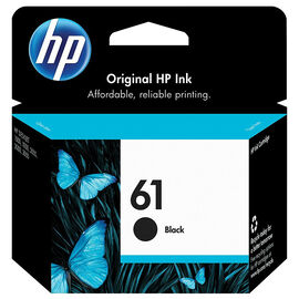 HP #61 Ink Cartridge - Black- CH561WN#140