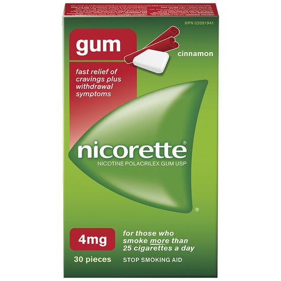 Nicorette Gum - Cinnamon - 4mg - 30's
