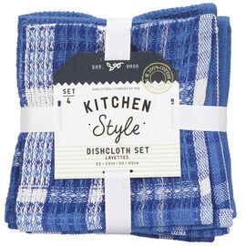 Kitchen Style Waffle Dish Cloth - 4 pack
