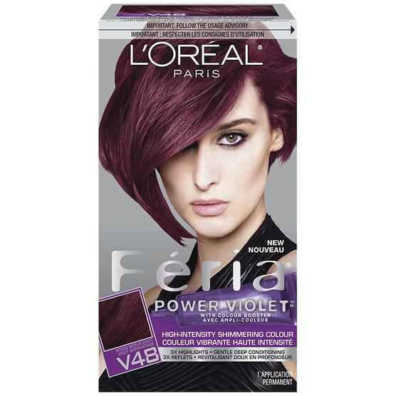 L Oreal Feria Hair Colour V48 Intense Medium Violet