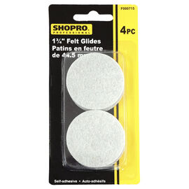Shopro 44.5mm Self-Adhesive Felt Glides - 4's