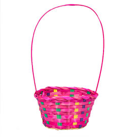 Round Bamboo Easter Basket - Assorted