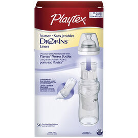 Playtex Disposable Drop-In Liners - 237ml - 50's
