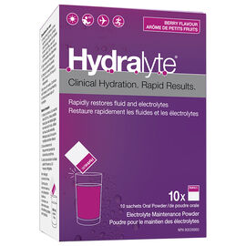 Hydralyte Electrolyte Powder - Apple Blackcurrant - 10 x 5g