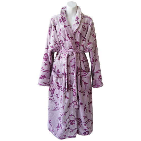 Sandra & Tiffany Polar Fleece Robe - Lilac