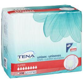 Tena Unisex Briefs - Super - Large - 14's